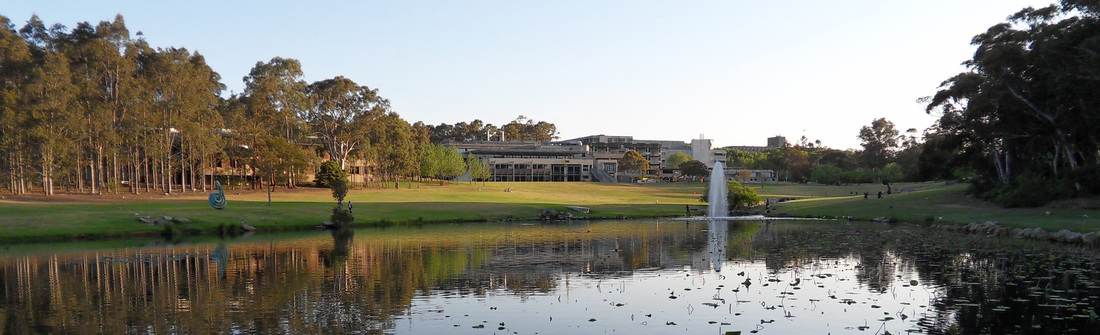 Lake on Macquarie University Campus.